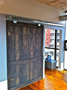 Loft Doors is Canada's largest custom sliding door company specializing in modern barn style doors, hardware, reclaimed wood and custom furniture. Sliding Door Company, Sliding Closet Doors, Internal Wooden Doors, Wood Doors, Barn Style Doors, Barn Doors, Modern Cottage, Cottage Chic, Loft Door