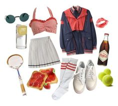 ♡ these tennis honeys play to win! ♡ by nymphettescharm on Polyvore featuring art