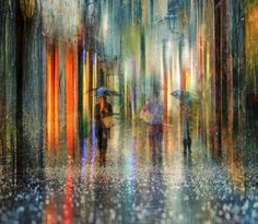 Eduard Gordeev /Эдуард Гордеев is a talented photographer who lives and works in St. Petersburg, Russia. He creates artistic landscape photo series of his beloved city 'St. Petersburg'. These magnificent cityscape images look impressive and atmospheric with a bit of effect of acrylic paintings. These urban streets seem drenched in mystery and rain. His captures look as if they were acrylic paintings. The reflections of city lights and all melting colors turn them into extraordinary piece...