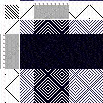 Drawdown Image: Page 146, Figure 5, Donat, Franz Large Book of Textile Patterns, 14S, 14T