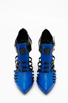Reaction Bootie in Blue. #ShoeCult by #NastyGal