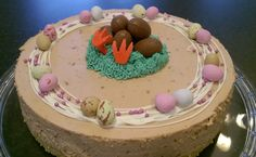 Pätkiskakku (oma) Chocolate cheesecake
