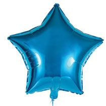 Blue star foil balloon really shines and is a perfect addition to any celebration! Add to a flower arrangement, basket or gift... or create a giant bouquet to make it a stellar occasion. Also perfect
