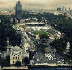 İnönü Stadium and worst building in the world Süzer Plaza