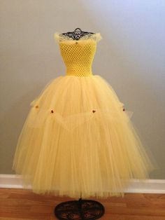Belle inspired tutu dress by TutusEtc1 on Etsy, $30.00