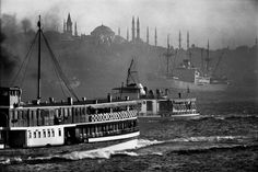 Magnum PhotoTURKEY. 1975. Boats sailing out into the Bosphorus.s -