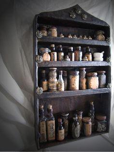Alchemist's Bottle Cabinet DIY