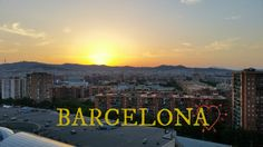 Sunset at this beautiful City #Spain #travel #Barcelona
