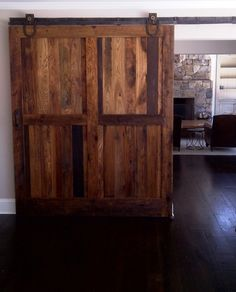 Rustic sliding doors - Great for kids play rooms and rec rooms to keep noise from other parts of the house