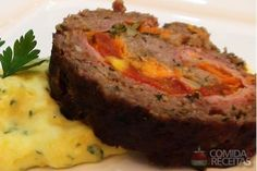 Receita de Rocambole de carne moída especial em receitas de carnes, veja essa e outras receitas aqui!