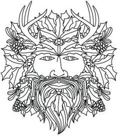 green man coloring pages - photo#8
