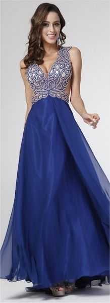 A-line Chiffon Prom Gown Navy Blue A Line Gown, Prom Dresses, Formal Dresses, Navy Blue Dresses, Formal Wear, Bodice, Fashion Accessories, Chiffon, Gowns