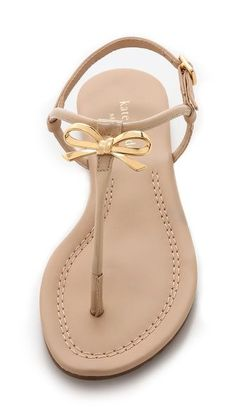 Beautiful bow thong sandals