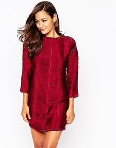 ASOS Sweater Dress with Fringe Detail