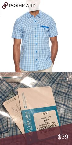 Columbia sycamore falls button down shirt On the move. Explore your world in style and comfort with this men's button-down shirt from Columbia. PRODUCT FEATURES 	•	Plaid pattern 	•	Stretch fabric blend for comfortable movement 	•	Interior mesh neck panel 	•	Chest zip pocket 	•	Button-down collar 	•	Button front 	•	1-pocket 	•	Short sleeves FIT & SIZING 	•	Classic fit features relaxed arm holes, regular body and traditional sleeve openings FABRIC & CARE 	•	Cotton, polyester 	•	Machine wash…