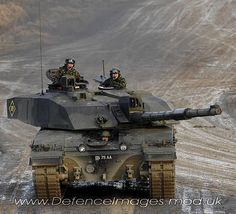 A British Challenger 2 Main Battle Tank from the Royal Dragoon Guards