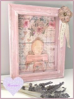 wall 3d frame, girls room, romantic shabby chic