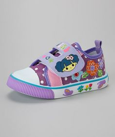 Love this Purple 'Girl' Adjustable Sneaker on #zulily! #zulilyfinds