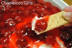 Chameleon Girls: Cherry Cheesecake Dip