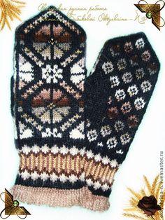 """Варежки, митенки, перчатки ручной работы. Ярмарка Мастеров - ручная работа Варежки """"Ноченька"""". Handmade."""