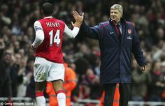 Put it there: Thierry Henry has revealed that a chance meeting with Arsene Wenger on a flight brought about his move to Arsenal in 1999