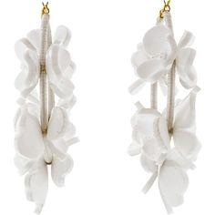 Oscar De La Renta Flower Garden Hoop Earrings ($465) ❤ liked on Polyvore featuring jewelry, earrings, oscar de la renta, clasp earrings, hoop earrings, spinel jewelry and spinel earrings
