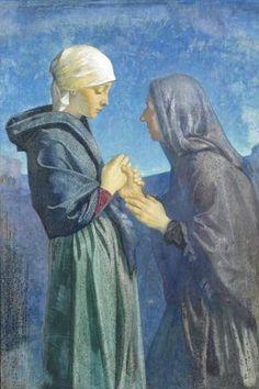 Mary and Elizabeth by Dorothy Webster Hawksley R.I. (British, 1884-1970)  50.5 x 34 cm. (20 x 13 1/2 in.