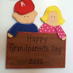 Happy grandparents day gift Fun Crafts For Kids, Kid Crafts, Happy Grandparents Day, Cool Kids, Winnie The Pooh, Cricut, Boards, Cool Stuff, Disney Characters