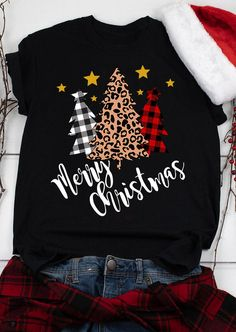 Christmas Merry Little Wine Black Juniors Soft T-Shirt