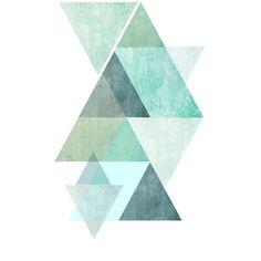 Minimalist Art, Printable, Abstract Art Print, TrianglePrint,... ($6.58) ❤ liked on Polyvore featuring home, home decor, wall art, printable wall art, geometric wall art and geometric home decor