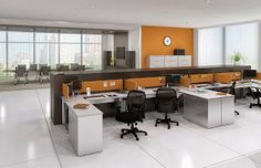 Open desking is the hottest trend running in the world of office furniture. Check out the pros and cons of these innovative new workplace solutions: http://theofficefurnitureblog.blogspot.com/2013/12/the-pros-and-cons-of-open-desking.html #ModernFurniture #InteriorDesign #OfficeDecor