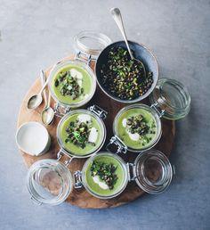 Asparagus, Fennel & Spinach Soup