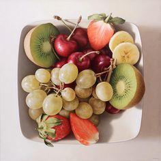 Frutas óleo sobre lienzo / oil on canvas 92 x 92 cm