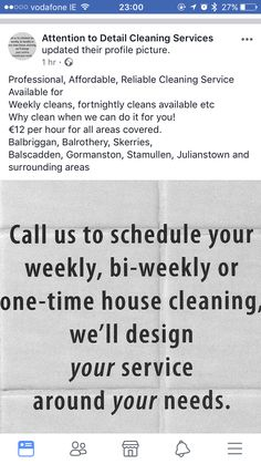 Weekly Cleaning, We Can Do It, Cleaning Service, Household, Personalized Items