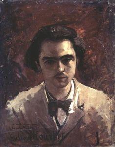 'Porträt von Paul Verlaine' von Gustave Courbet (1819-1877, France)