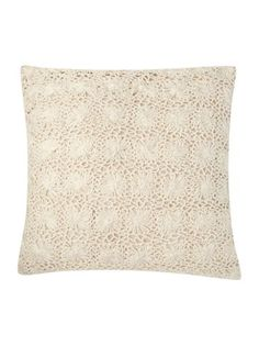 Shabby Chic Crochet cushion - natural - House of Fraser