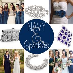 navy and silver/sparkle