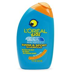 L'Oreal Kids Extra Gentle 2-in-1 Swim & Sport Shampoo haircare by L'Oreal Paris. Removes chlorine and saltwater. Gentle, tear-free moisturizing shampoo & conditioner.
