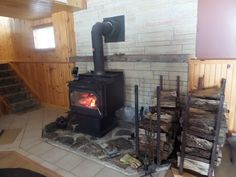 Cottage Vacation Rental - Lee Valley - Stay toasty warm by the wood burning fireplace!