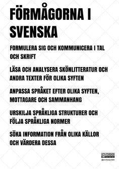 Förmågorna i svenska av Annika Sjödahl