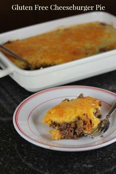 This gluten free cheeseburger pie is an easy gluten free dinner recipe that your whole family will love!