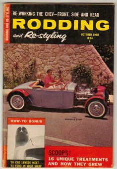 Rodding and Re-Styling April 1960 Old Vintage Car Magazine Custom Classic