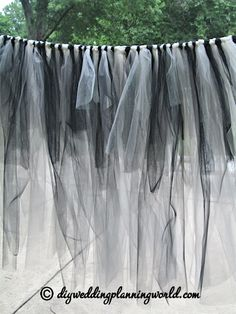 DIY Gothic Tulle Skirt for the Cake Table - Part 3 | DIY Wedding Planning