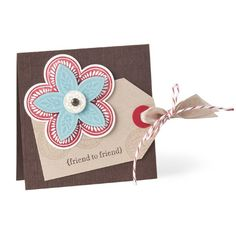 Made using the Triple Treat Flower - one stamp coordinates with several different punches for easy layering!