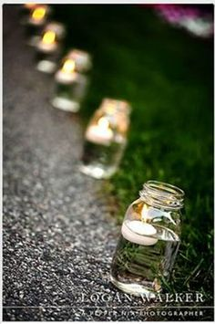 Nice way to provide lighting walking into the party, or once the sun sets
