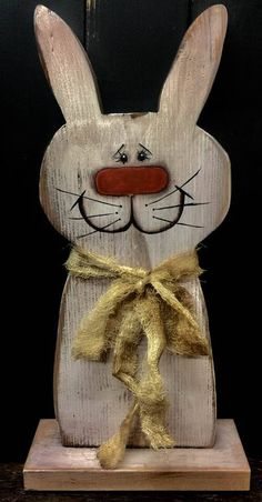 Primitives, Folk Art Decor, Bunnies, Rabbits.. Easter Bunnies, Spring Decor, Farmhouse Primitives, OOAK Primitives, Wooden Bunnies, Wood