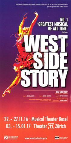 WEST SIDE STORY - 2016/17 BASEL + ZÜRICH - ORIGINAL MUSICAL FLYER