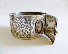 Victorian sterling locket bracelet