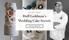 DuffGoldman Dishes on Designing a Dreamy Cake. Photography: Courtesy of Duff Goldman.  View tips: http://www.insideweddings.com/news/planning-design/duff-goldman-dishes-on-designing-a-dreamy-cake/1950/