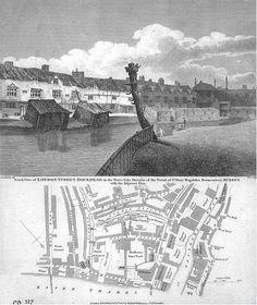 Waterside slum in st Mary's Bermondsey Victorian London, Vintage London, Old London, Victorian Era, Bermondsey London, London Docklands, Lost River, London History, London Places
